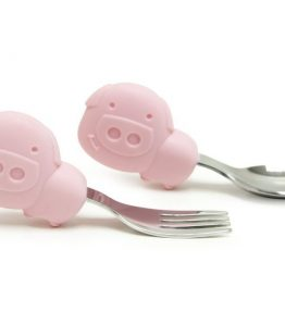 Pokey the Piglet baby spoons and fork set