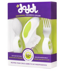 Doddl Utensil Set - Lime Green