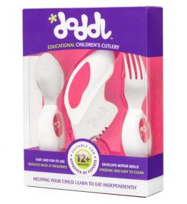 Doddl Utensil Set - Raspberry Pink