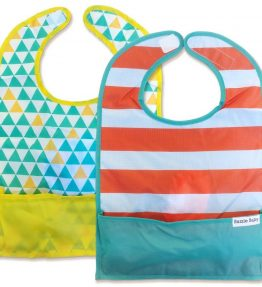 GOBIB TRAVEL FEEDING BIB 2-PACK