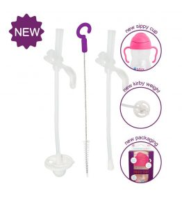 B.Box Sippy Cup Replacement Straw Kit dishwasher safe and very handy.