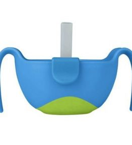 B.Box Ocean Breeze Bowl & Straw Original snack insert and very attractive colour.