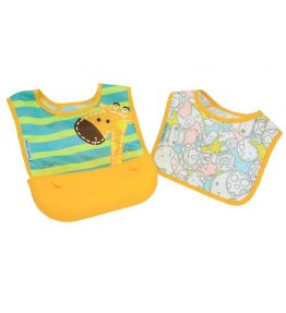 Marcus Marcus LOLA YELLOW GIRAFFE Travel Bib with a fixing velcro closure and adorable colour.