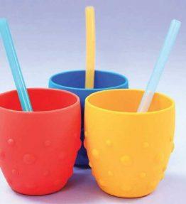 Marcus Marcus Reusable Silicone Straws & Brush Set