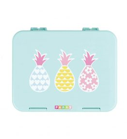 Penny Scallan Pineapple Bunting Large Bento Box impressive 6 handy compartments.