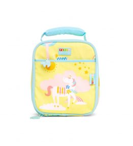 Penny Scallan Park Life Lunchbox School Bag cute with yellow and sky blue attractive colours.