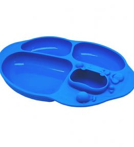 Marcus Marcus Yummy Dips Suction Divided Plate