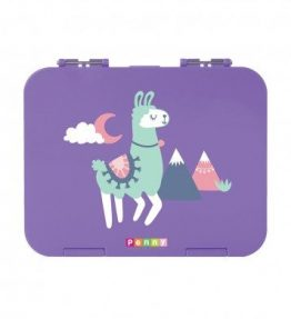 Penny Scallan Loopy Llama Large Bento Box sweet purplish color and cute Llama print.
