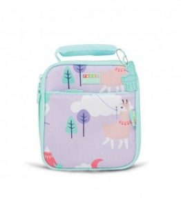 Penny Scallan Loopy Llama Lunchbox School Bag combination of a sweet gummy color and purple in the middle and very attractive colors.