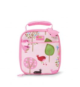 Penny Scallan Chirpy Bird Lunchbox School Bag girly colour and elegant prints.