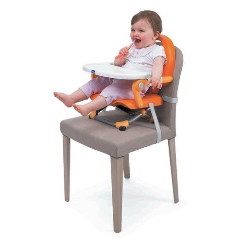 Chicco Mandarino Pocket Snack Portable Booster Seat with a two mentation safety strap. Brilliant.