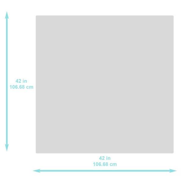 Bumkins Grey Arrow Waterproof Splat Mat very easy wipe and terrific waterproof fabric.