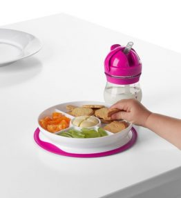 OXO Tot Stick & Stay Suction Divided Plate