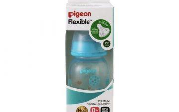 Pigeon Slim Neck Flexible™ Bottle 120ml Blue Balloons (PP)