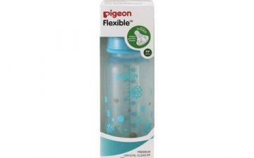 Pigeon Slim Neck Flexible™ Bottle 240ml Blue Balloons (PP)
