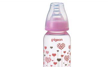 Pigeon Slim Neck Flexible™ Bottle 120ml Pink Hearts (PP)