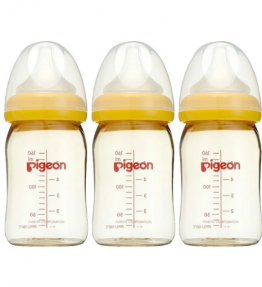 Pigeon Wide Neck SofTouch™ Bottle 160ml (PPSU) Triple Pack