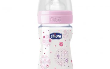 Chicco Nursing Bottle: Well-Being Silicone - 0m+ Teat 150ml