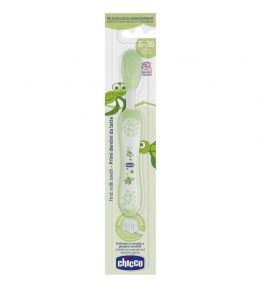 Chicco Nursing Oral Care: Toothbrush 6-36m Green