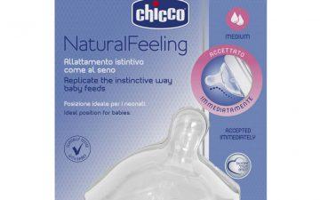 Chicco Nursing Teat: NaturalFeeling - 2m+ Med Flow 1pk
