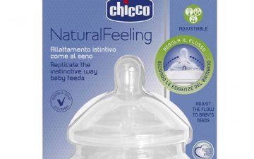 Chicco Nursing Teat: NaturalFeeling - 4m+ Adj Flow 2pk