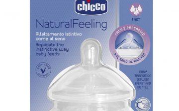 Chicco Nursing Teat: NaturalFeeling - 6m+ Fast Flow 2pk
