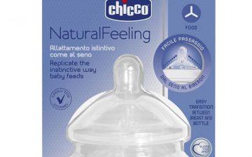 Chicco Nursing Teat: NaturalFeeling - 6m+ Food Flow 2pk