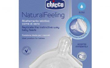 Chicco Nursing Teat: NaturalFeeling 0m+ Reg Flow 1pk