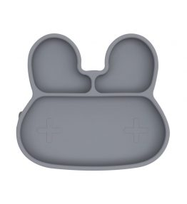 We Might Be Tiny Bunny Stickie Plate