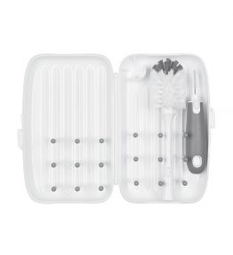 Oxo Tot On-The-Go Drying Rack & Bottle Brush - Grey
